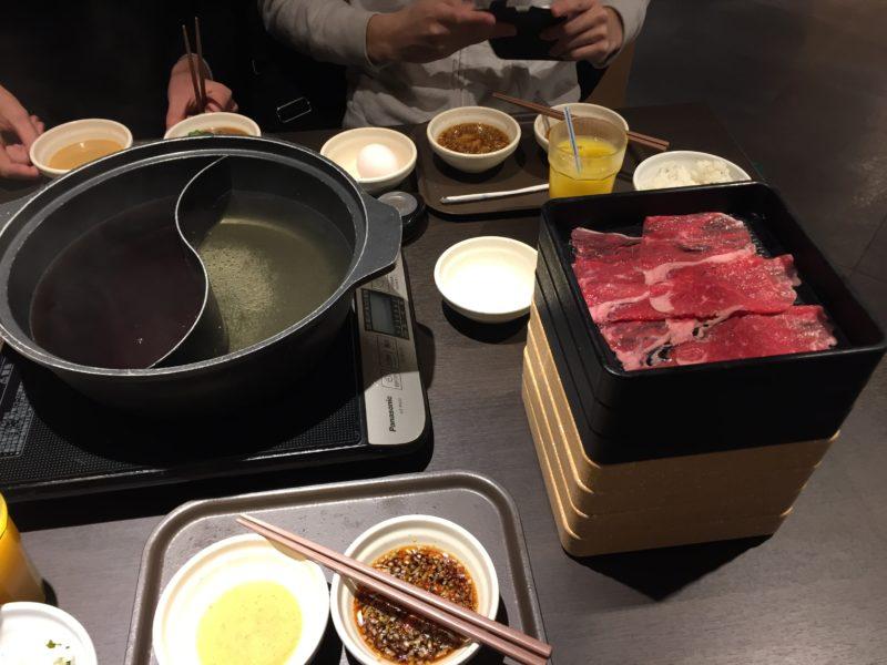 しゃぶ葉のお肉とお鍋