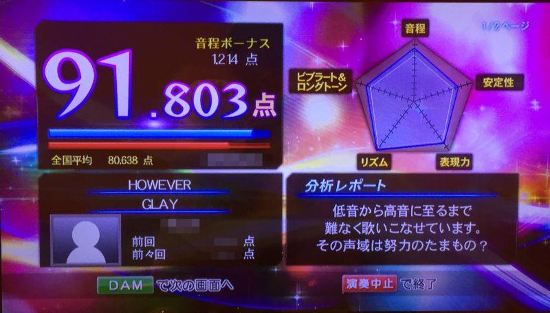 カラオケ精密採点DX-G画面(DAM)