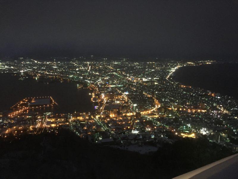 函館山からみる街の風景(夜間)
