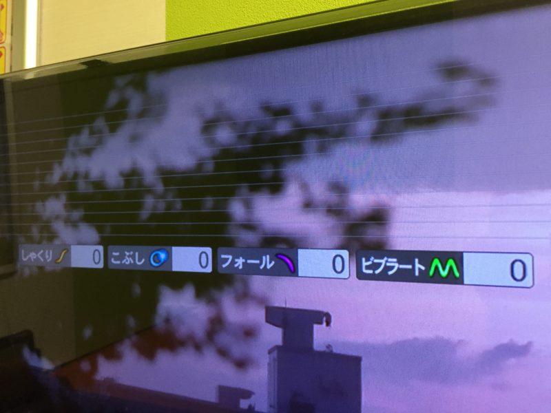 精密採点DX-G カラオケ画面